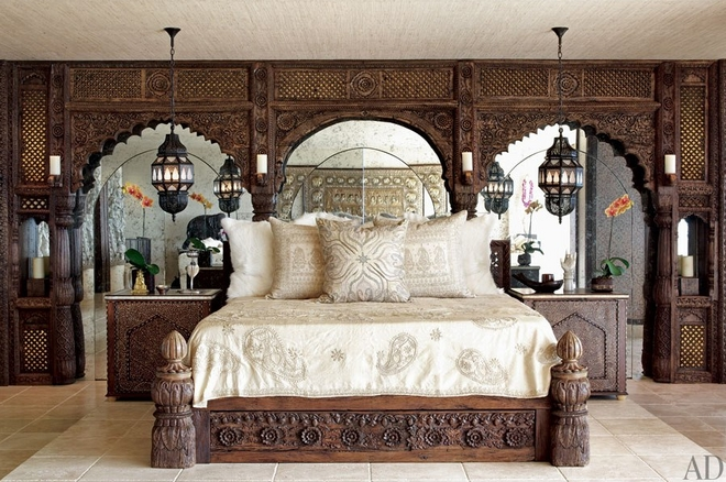 Moroccan Bedroom Decorating Ideas From Celebrities Homes - SO MOROCCAN