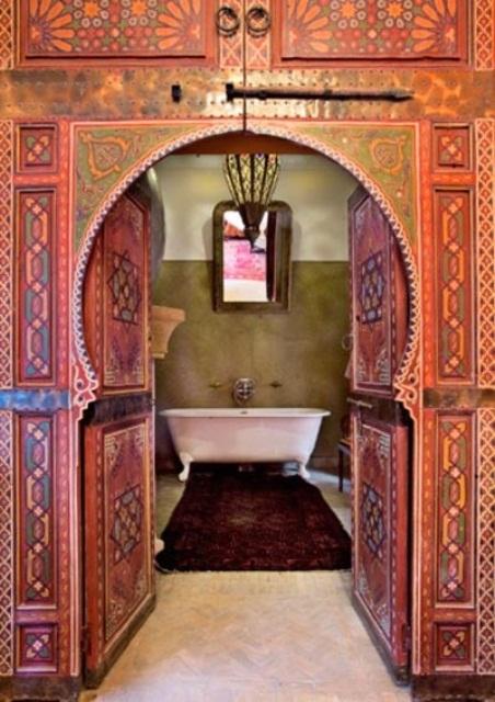 Moroccan Design Ideas beautiful moroccan interior design ideas inspire bohemia beautiful wall decor and art plates 640 In Moroccan Doors Decor
