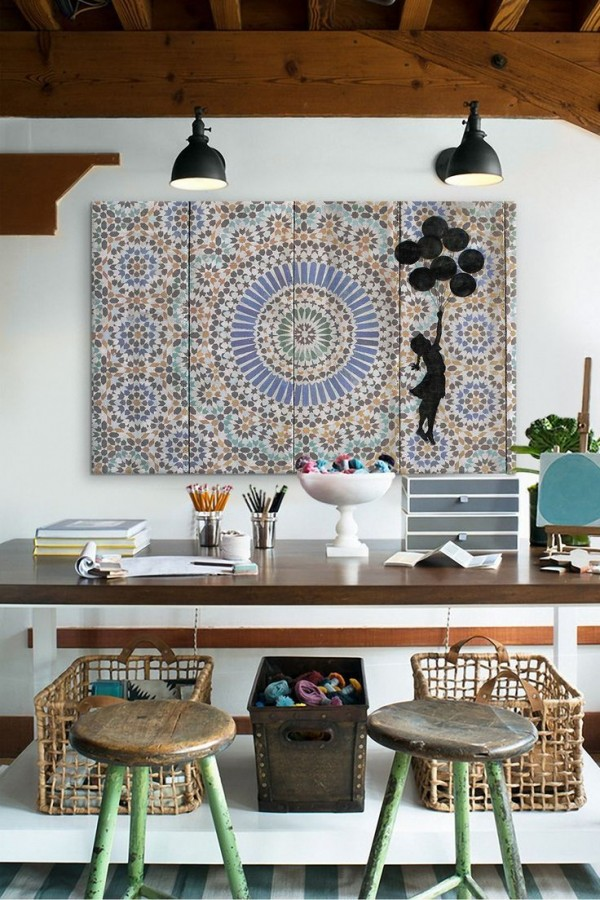 Charming home office ideas inspired by moroccan decor so for Moroccan style home accessories